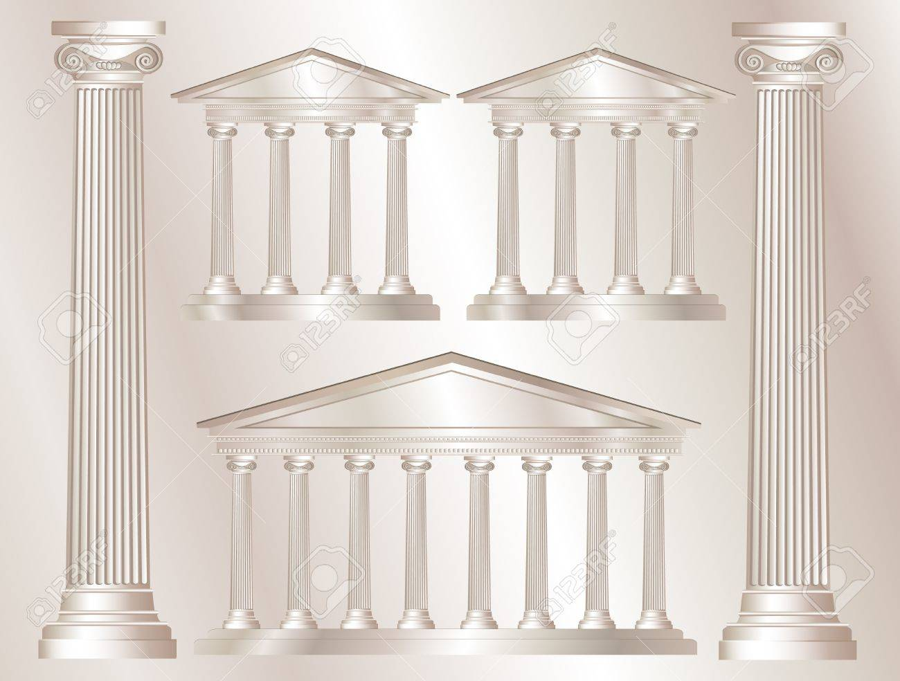 A vector illustration of a classical style white marble temples and pillars. Marble style background. EPS10 vector format Stock Vector - 11898233