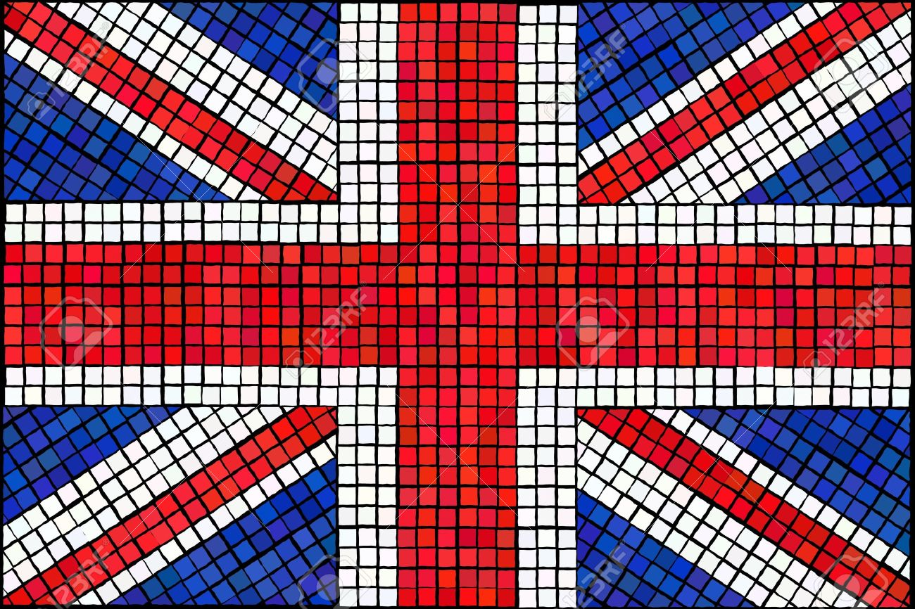 A Union Jack flag made from mosaic tiles. Stock Vector - 12934720
