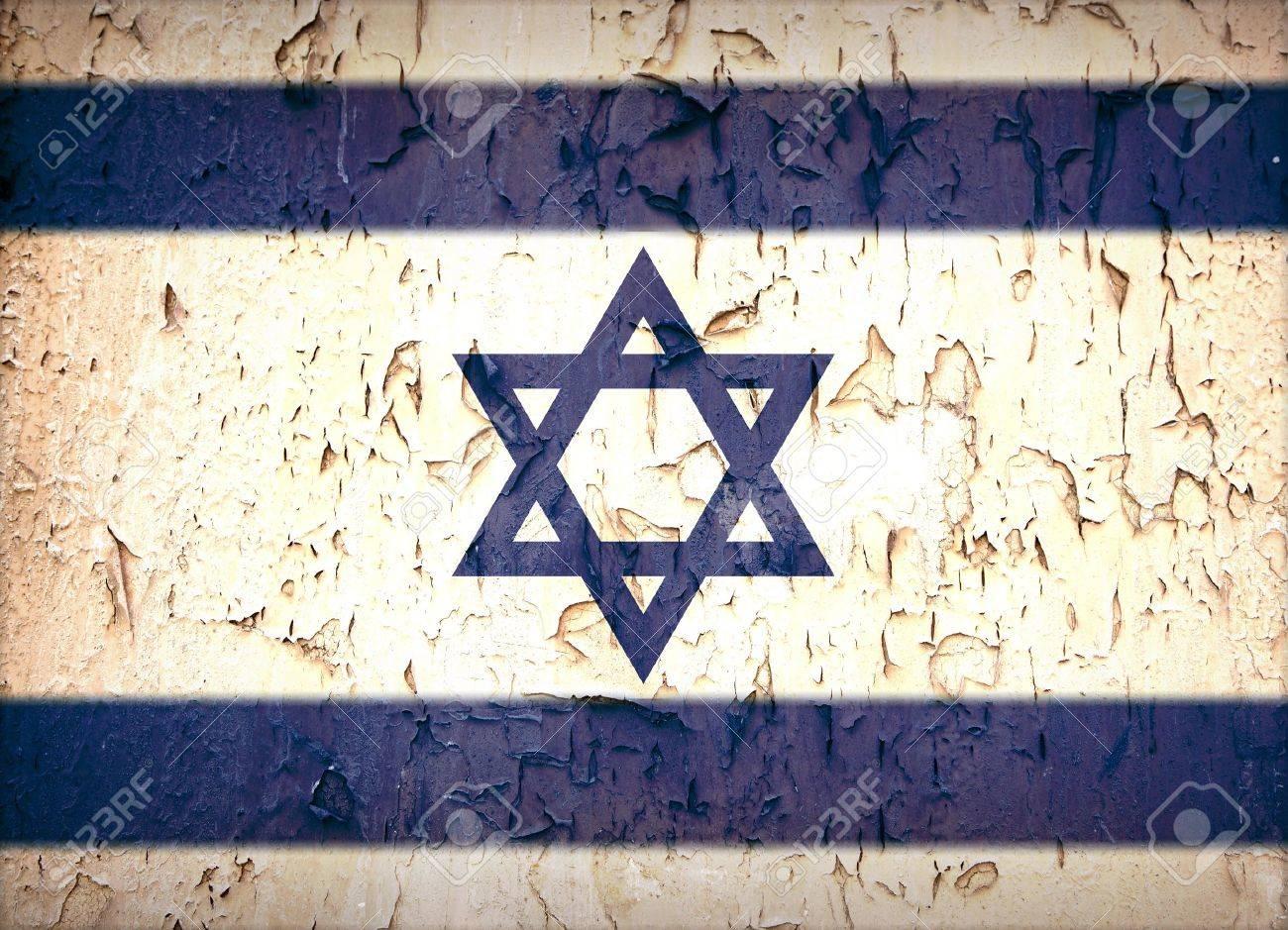 Vintage effect Star of David Israeli flag. Stock Photo - 16162685