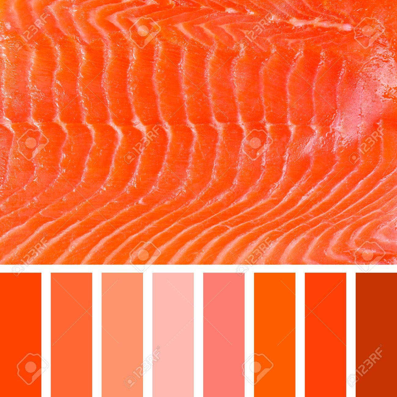 A Background Of Smoked Salmon, In A Colour Palette With ...