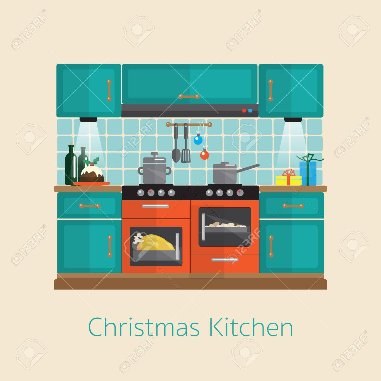 Kochen Weihnachtsessen. Wohnung Küche Design In Der ...