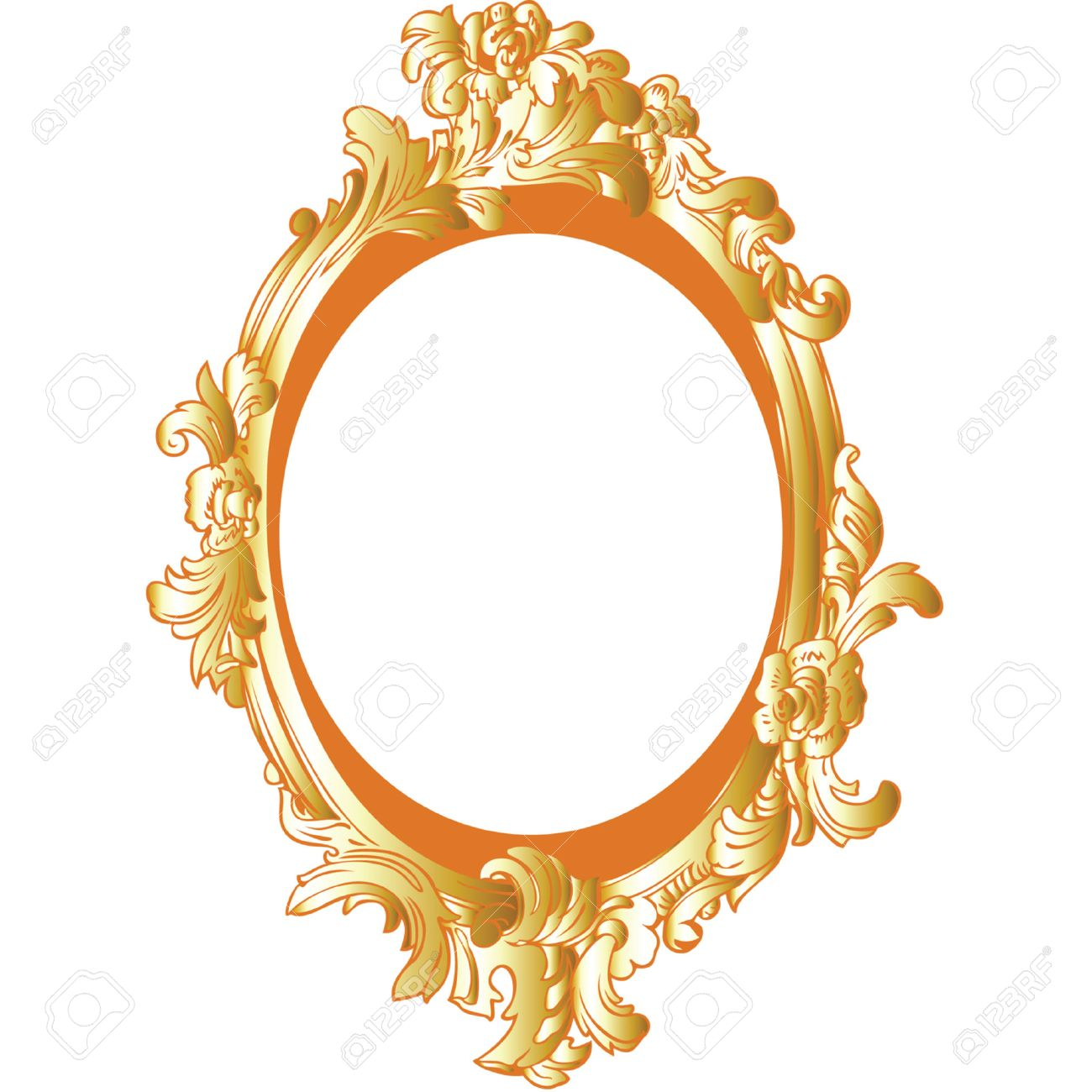 vector gold decorative frame