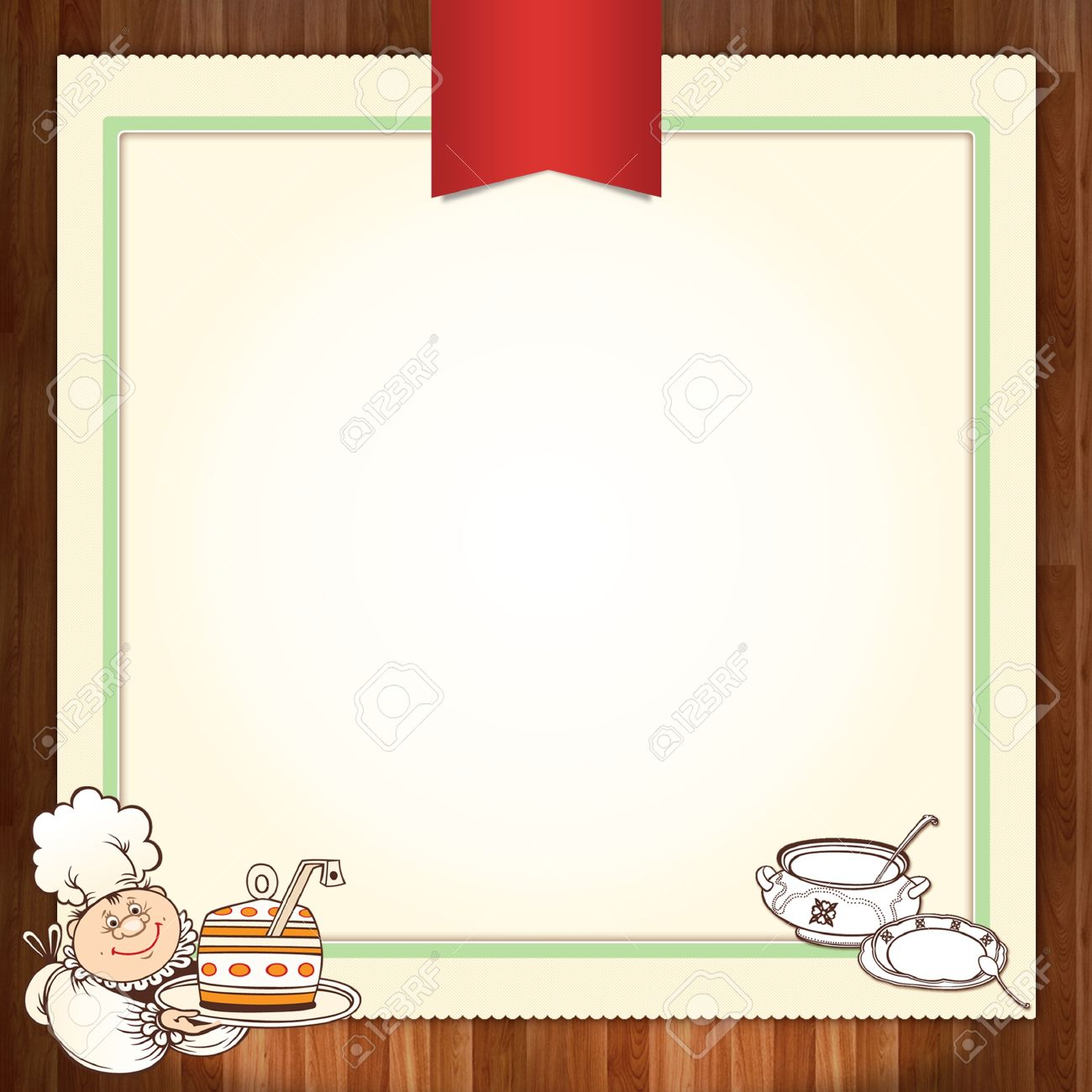culinary menu template design with chef stock photo picture and