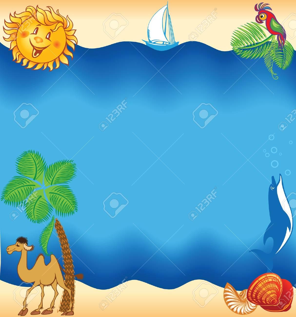 Summer sea beach background, travel concept Stock Vector - 19704608