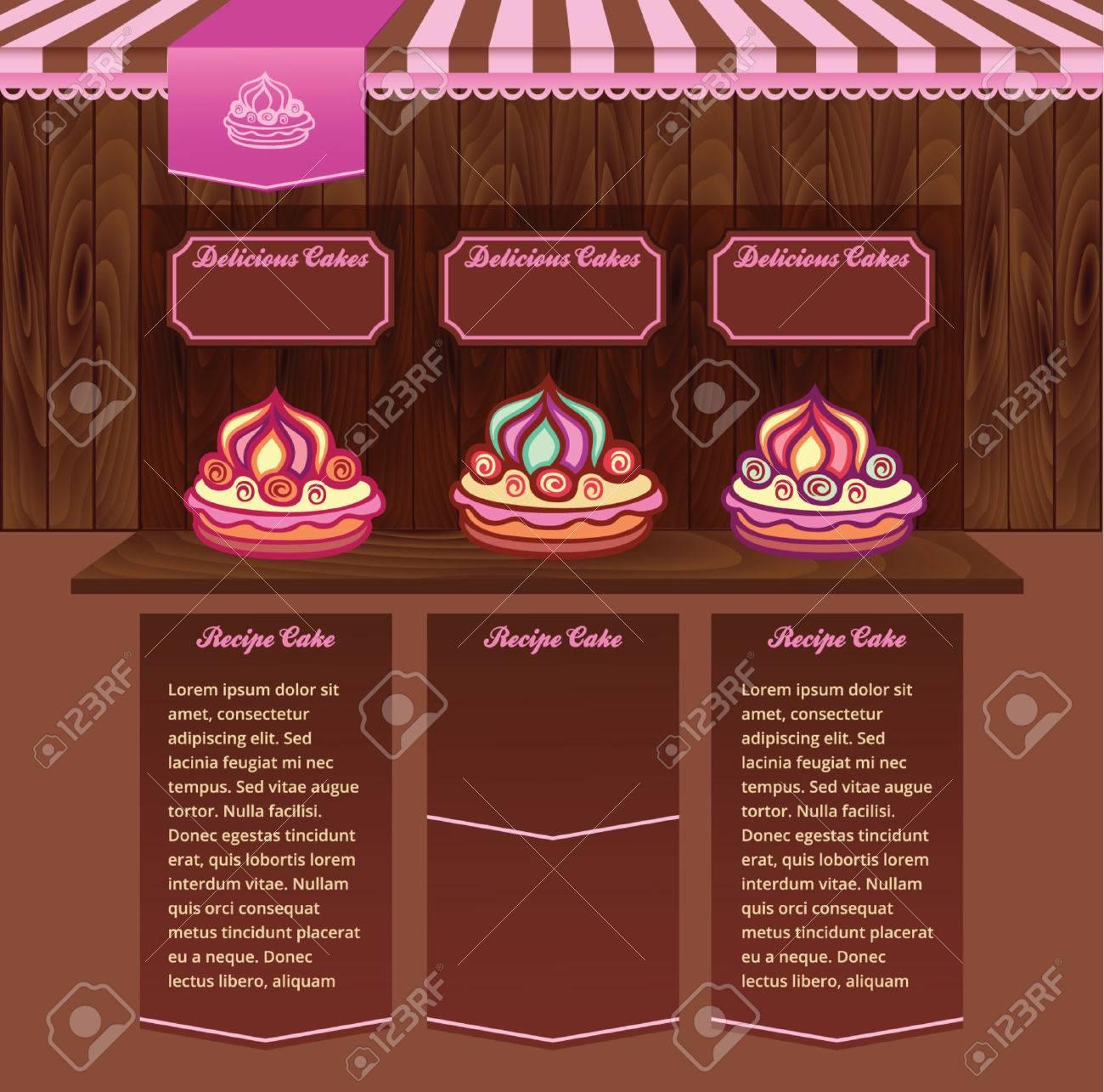 Vorlage Für Kuchen-Rezepte-Website Lizenzfrei Nutzbare ...