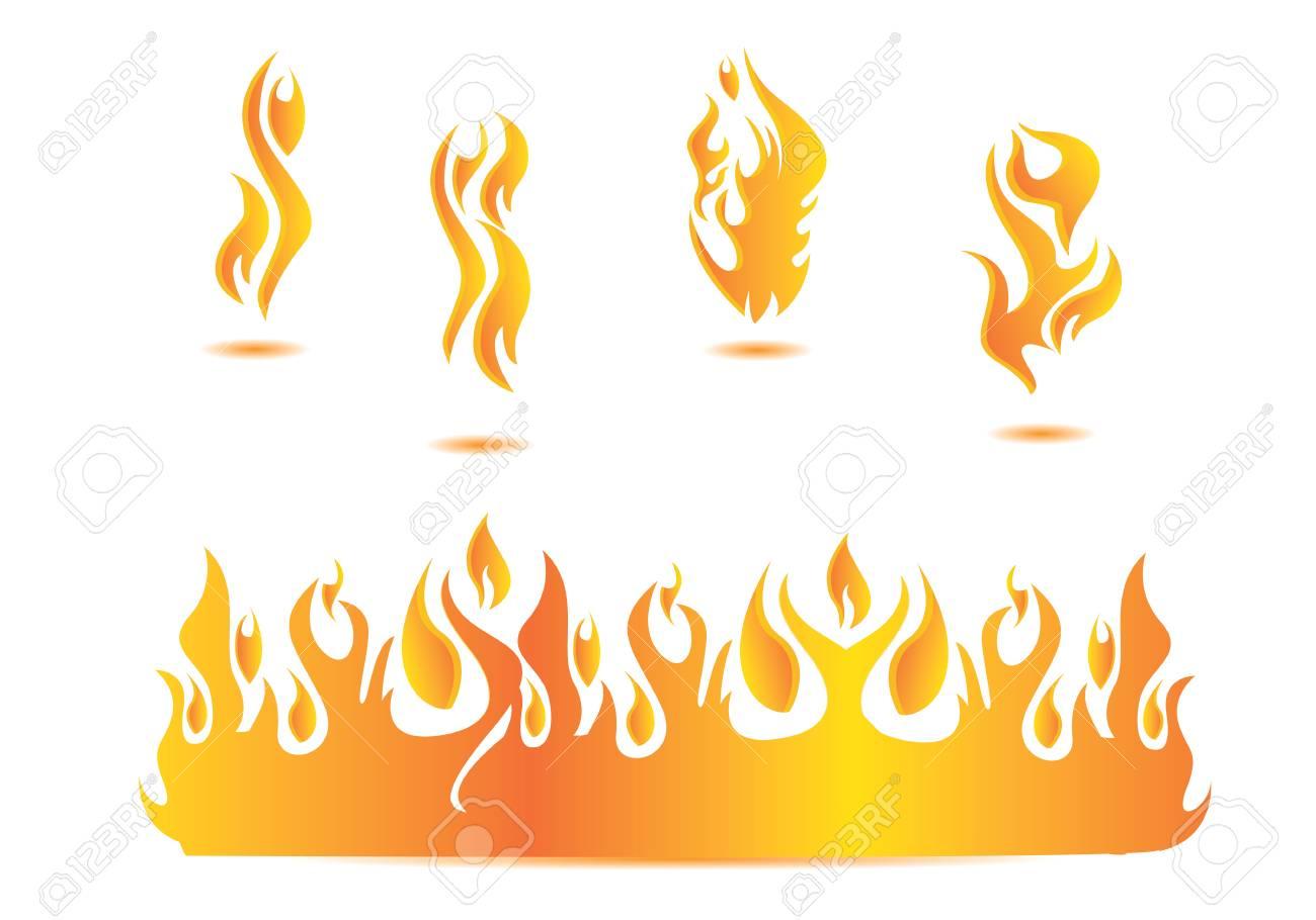 炎イラスト デザインのイラスト素材ベクタ Image 69894597