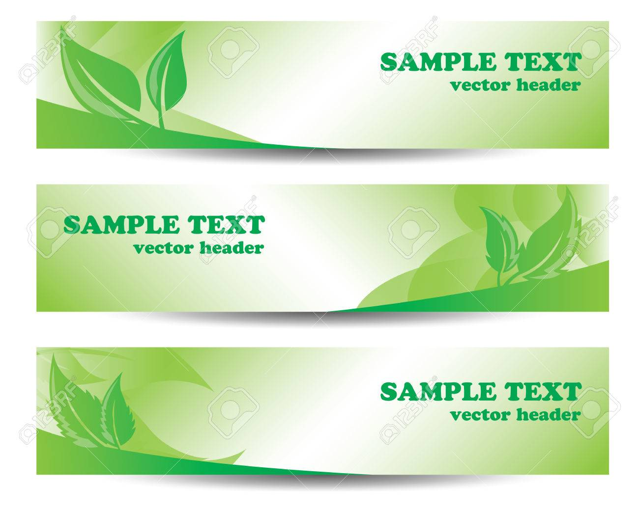 Go Green Banners Royalty Free Cliparts Vectors And Stock Illustration Image 68703808