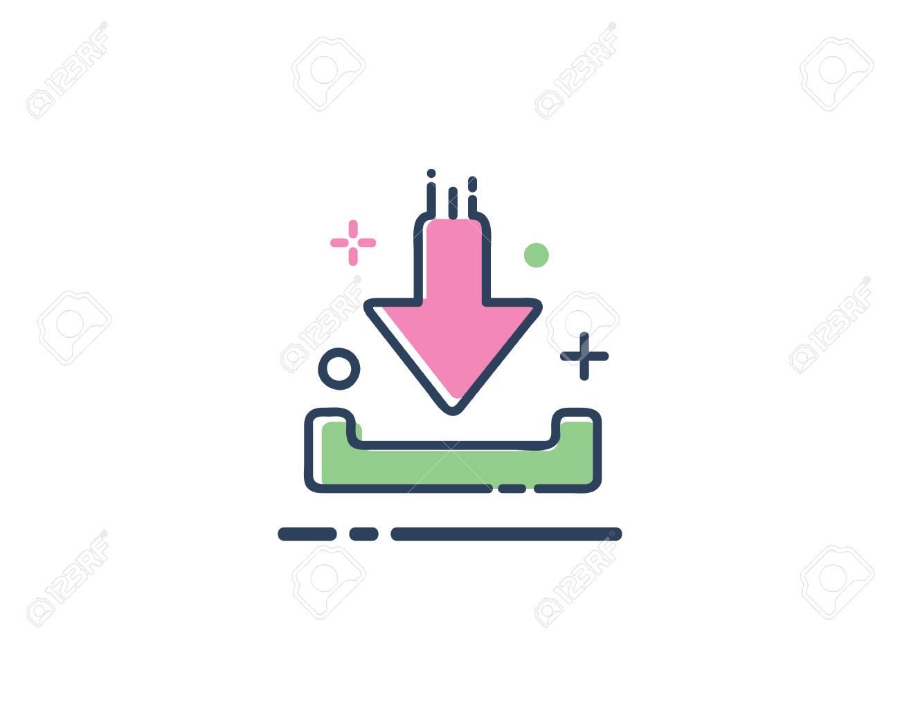 download icon design illustration line filled style design designed