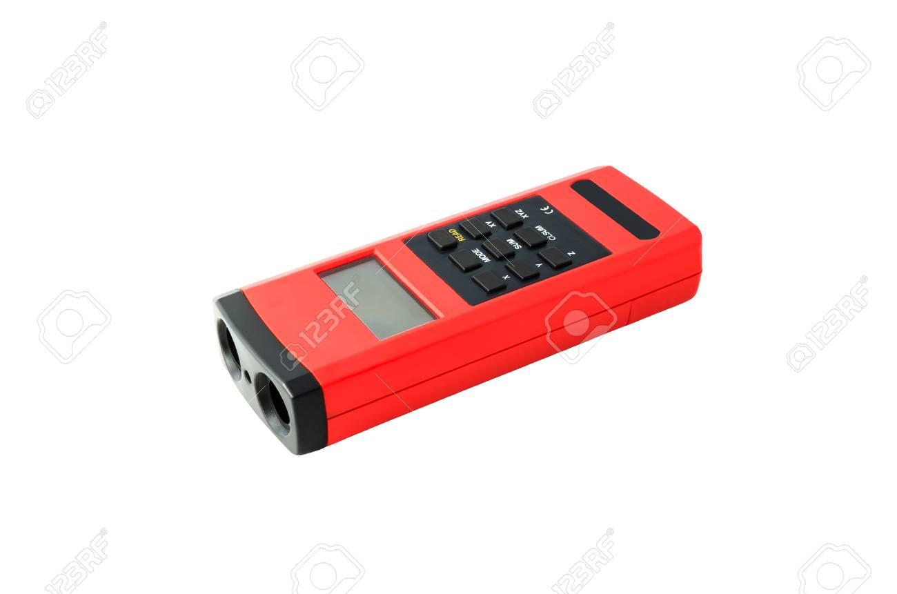 Infrarot Entfernungsmesser : Digitale ultraschall entfernungsmesser gerät auf whtie hintergrund