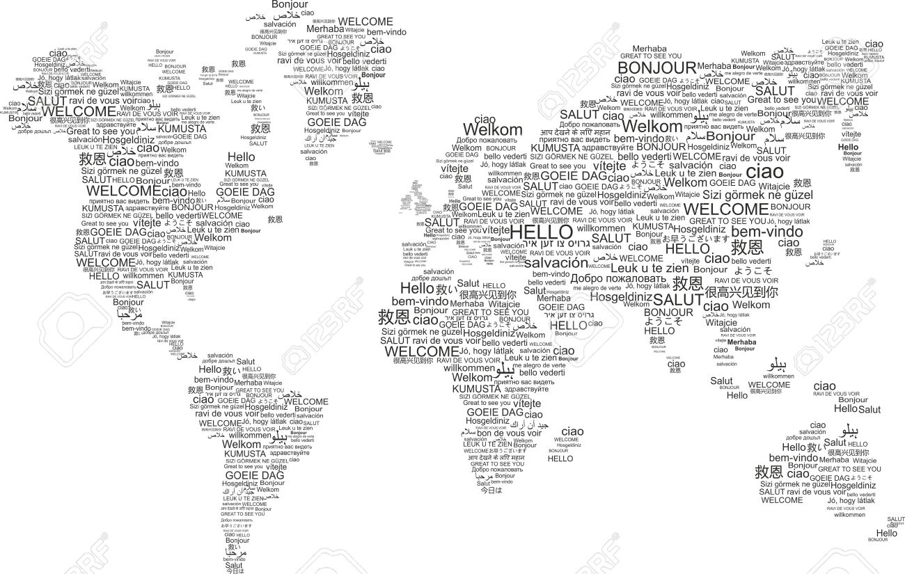 words world map