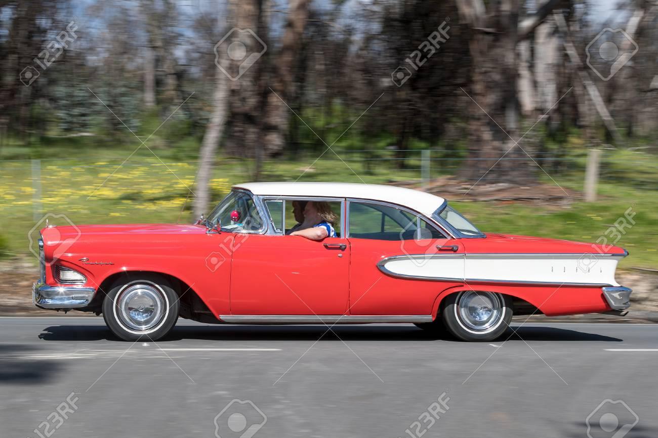 Adelaide, Australia - September 25, 2016: Vintage Car Driving ...