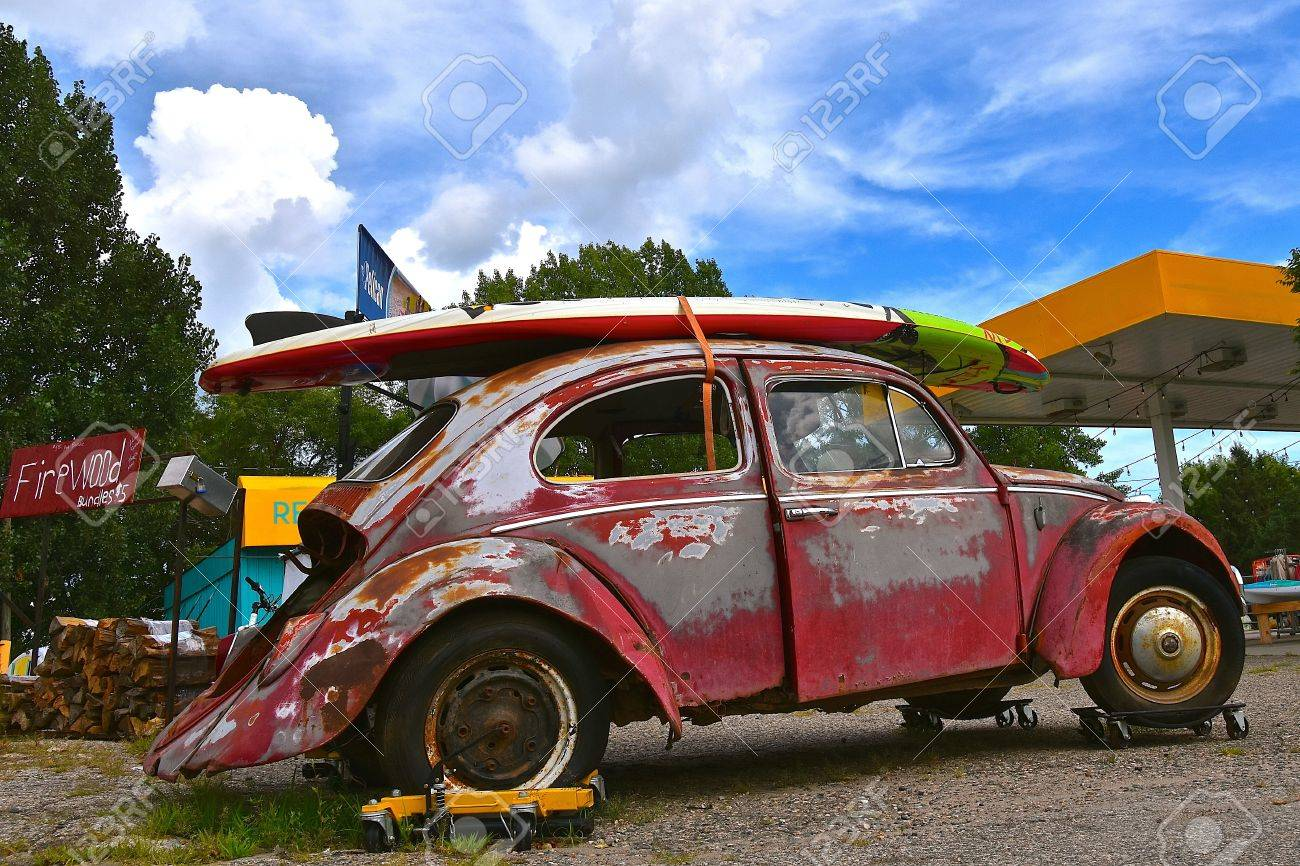 BATTLE LAKE, MINNESOTA, August 11, 2017: The 1960`s Old Car Is ...