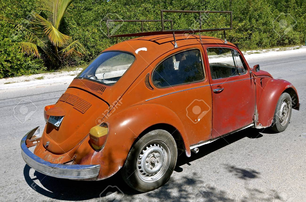 MAZATLAN, MEXICO, January, 27, 2017: The 1960\'s Old Car Is A.. Stock ...