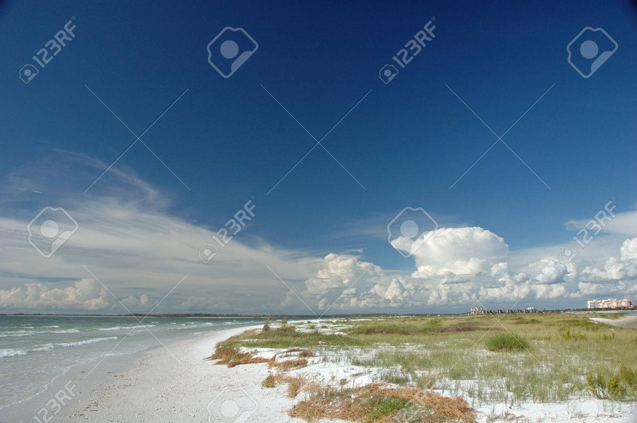 Tiger Tail Beach At Marcos (Marco) Island, Florida Stock Photo ...
