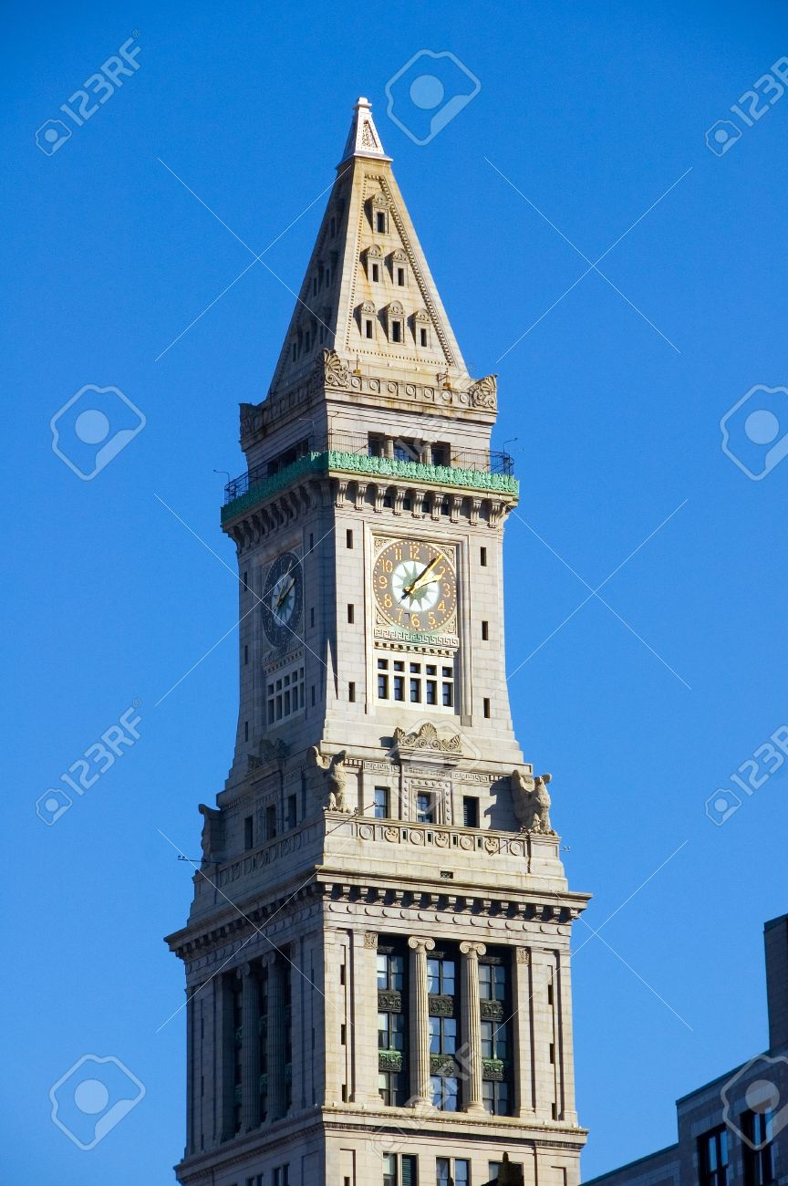 Customs House Clock Tower Boston Ma Stock Photo Picture And Royalty Free Image Image 2006142