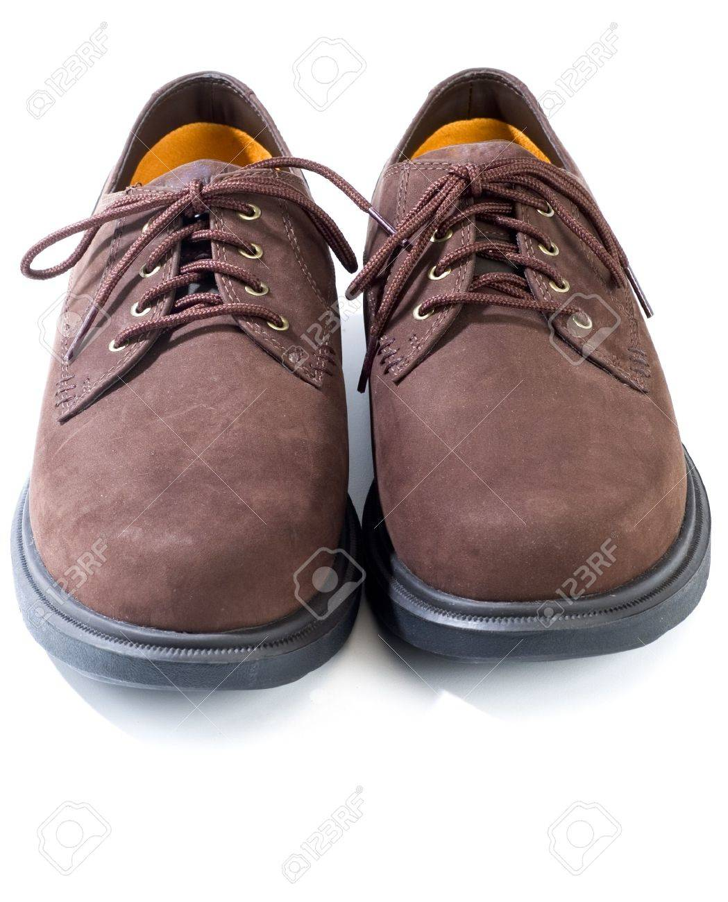 Rugged Casual Shoes In Brown Suede On