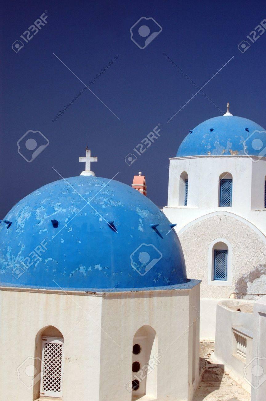greek island church and monastery famous santorini Stock Photo - 632533