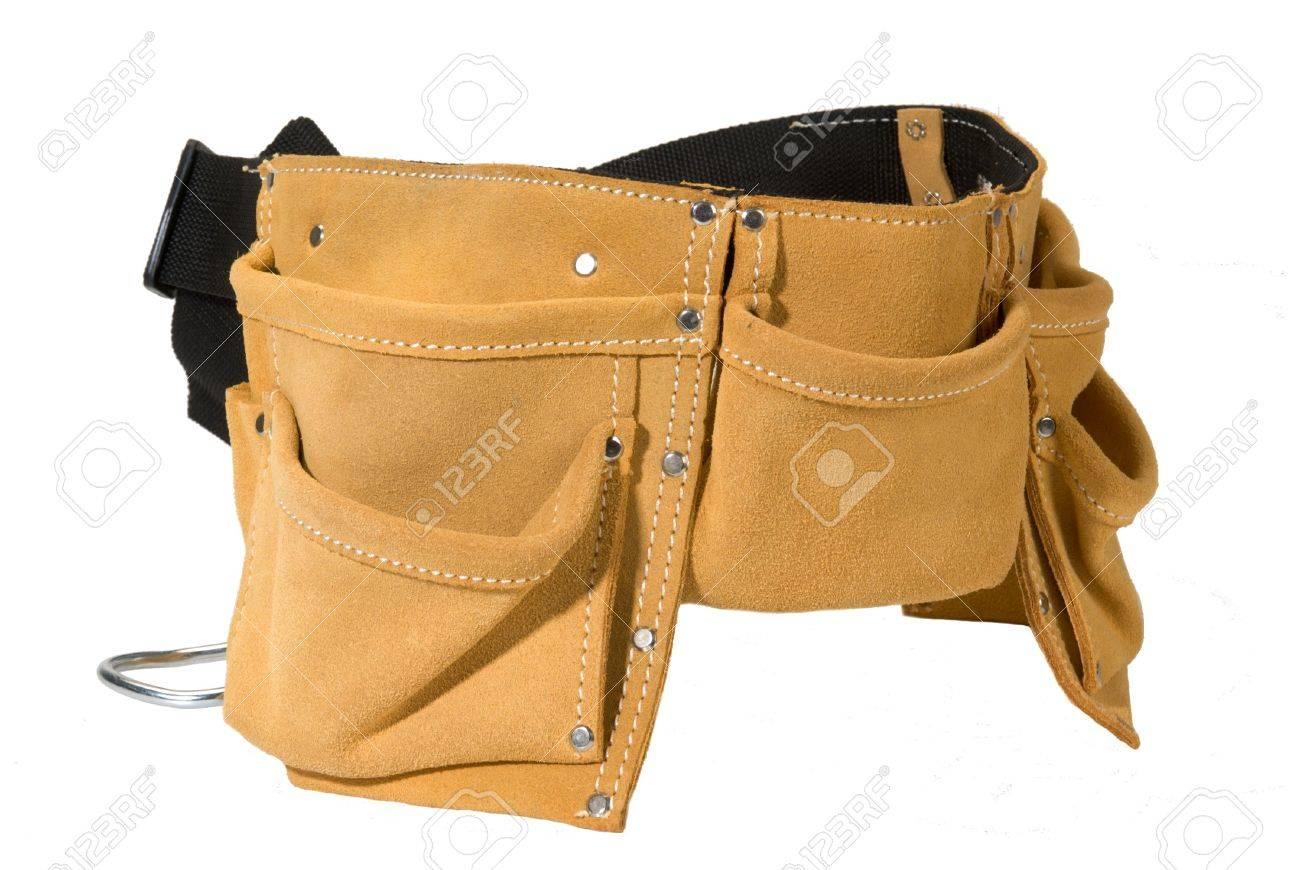 Foto de archivo - Herramienta de servicio pesado cinturón de cuero gamuza  delantal de trabajo con bolsillos d46777c097e6