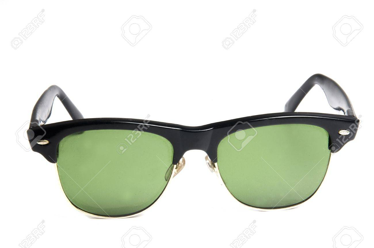 sunglasses classic plastic frame retro old style shades Stock Photo - 4403250
