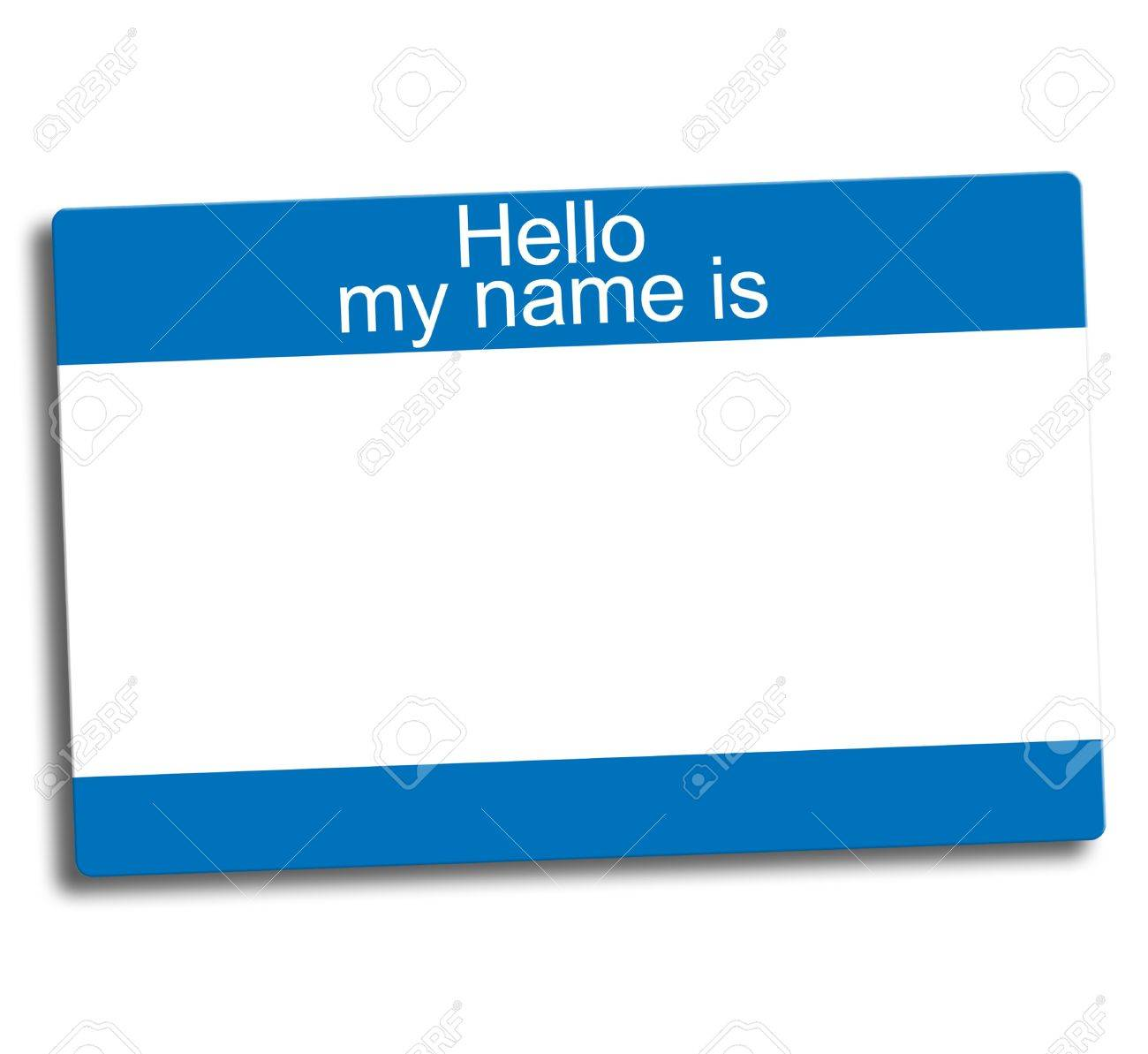 blue and white blank group ID tag Stock Photo - 2836404