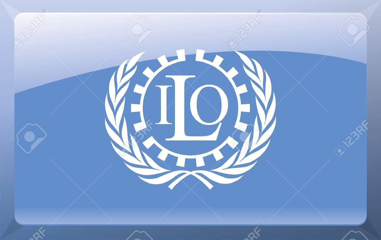 International Labour Organization Flag Stock Vector - 27699853