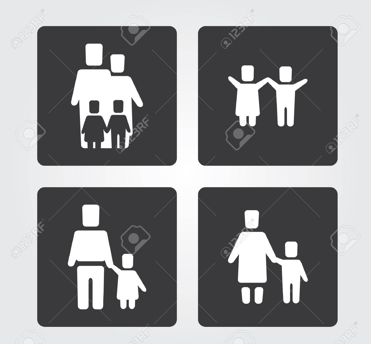 Simple web icon in set Stock Vector - 23451349