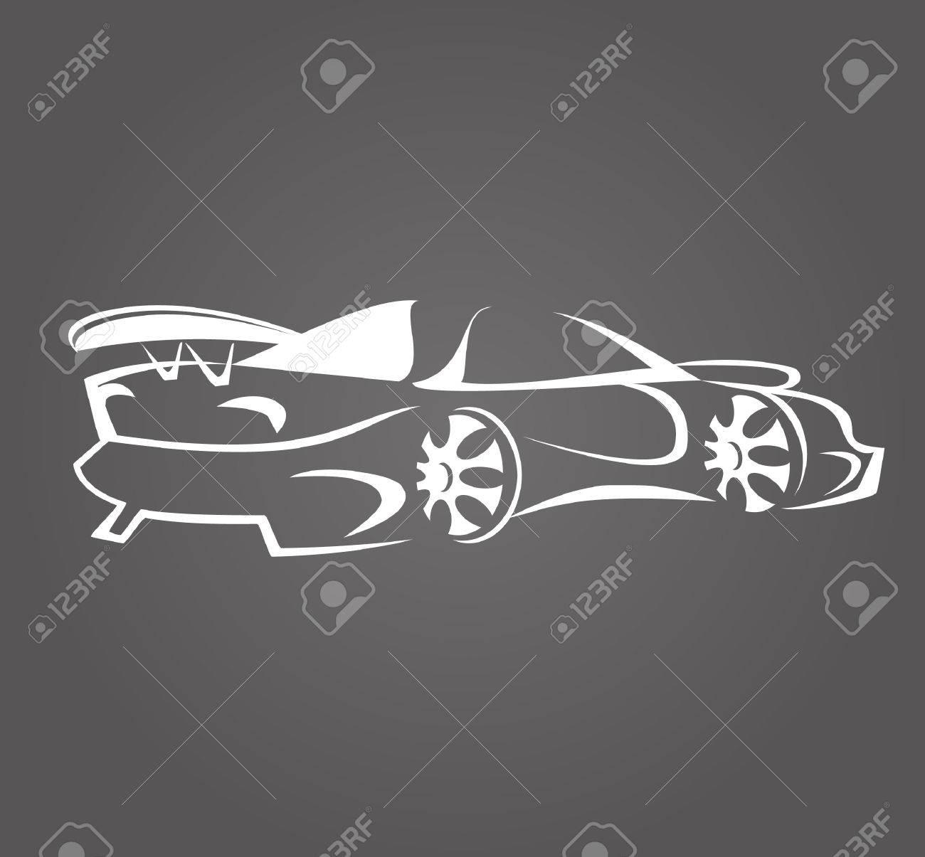 Einfache Icon: Autoschattenbild-Entwurf Lizenzfrei Nutzbare ...