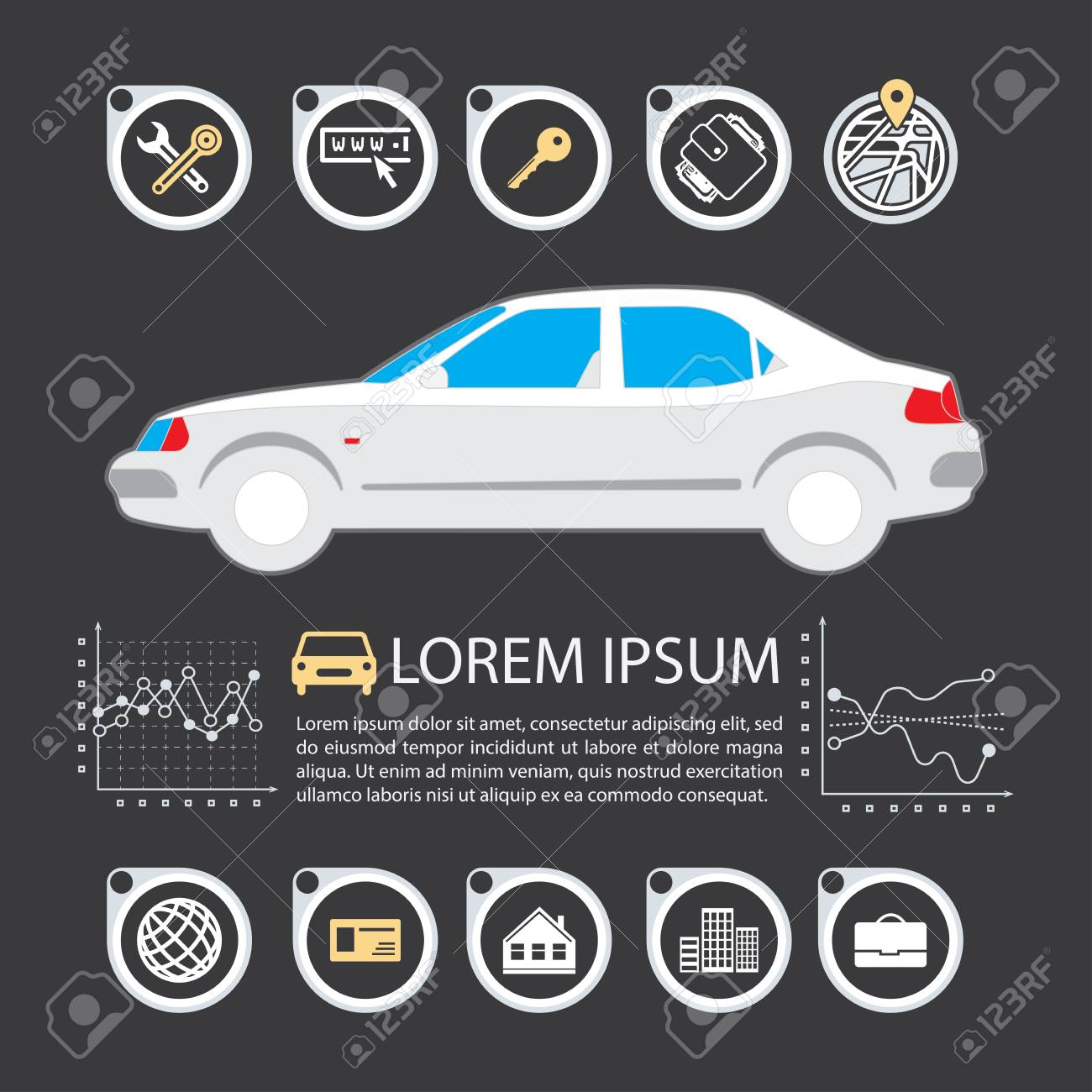 Information Graphics Design Element And Vehicle Illustrations Royalty Free Cliparts Vectors And Stock Illustration Image 59596061
