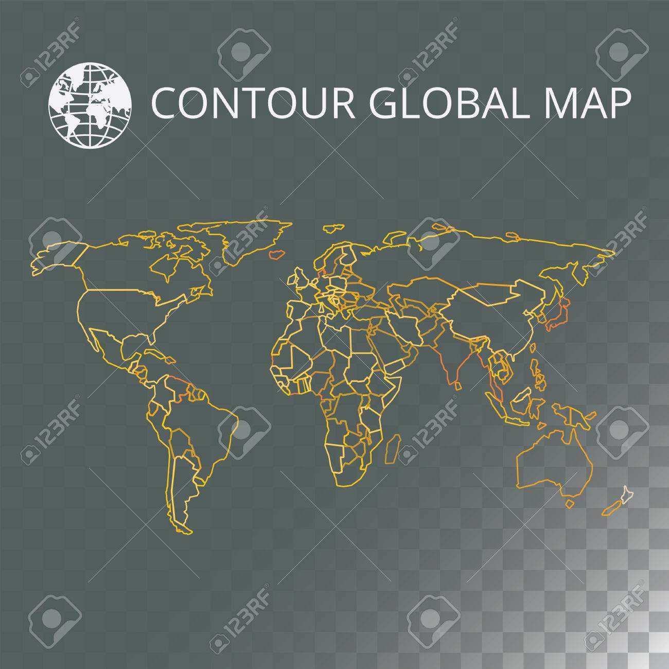 World map vector illustration high quality image in the style high quality image in the style of broken lines detail and continents of the world colour identification global map for your design or application gumiabroncs Images
