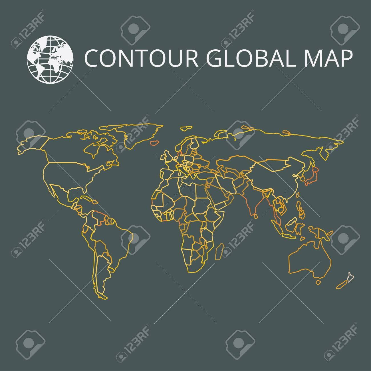 World map vector illustration high quality image in the style high quality image in the style of broken lines detail and continents of the world colour identification global map for your design or application gumiabroncs Choice Image