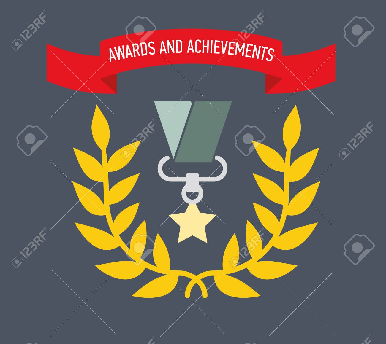 Icon award  Medals and the rewards for achievements or completed