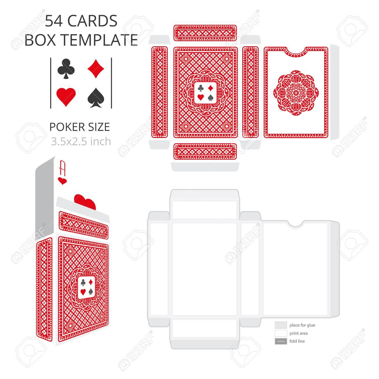 Poker Card Size Tuck Box Templatector Illustration Ready Design