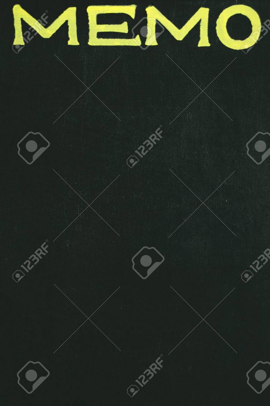 memo blackboard with the notice MEMO Stock Photo - 3479424