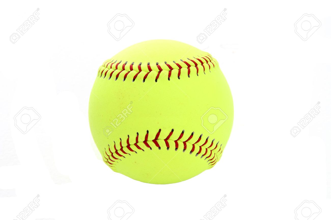 Yellow Softball Image Stock Photo Yellow Softball