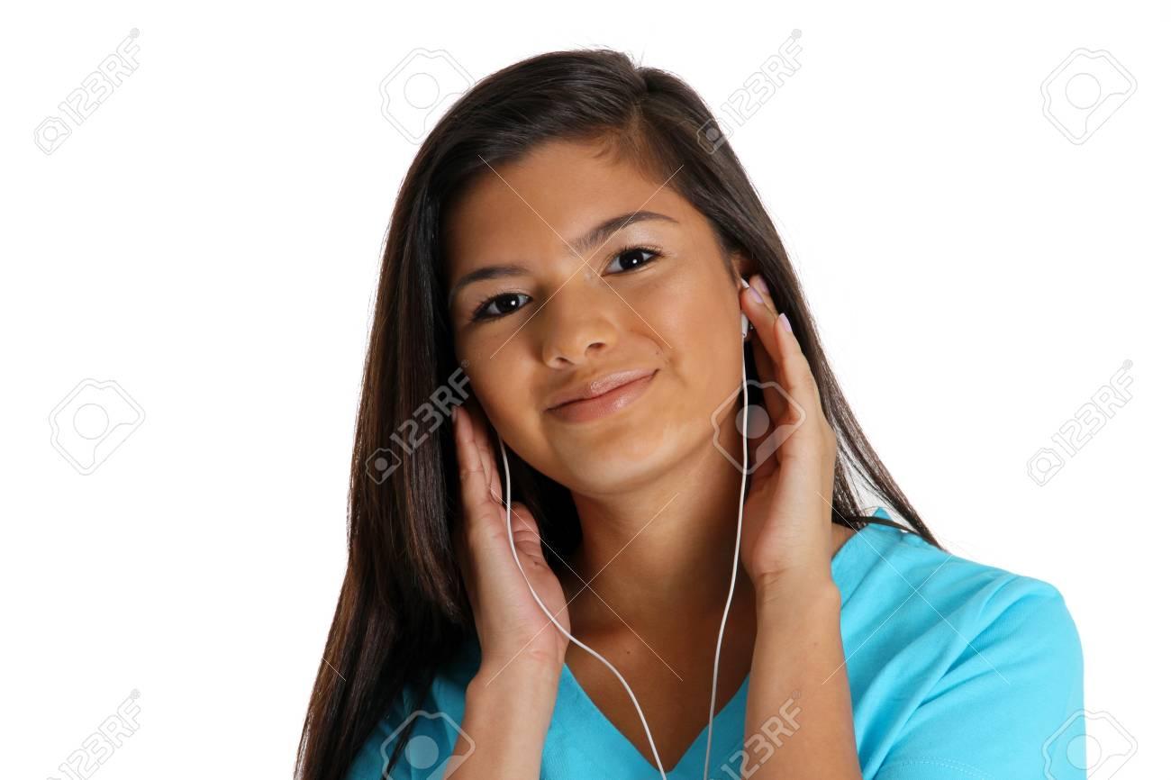 Teenage girl set against a white background Stock Photo - 13297297