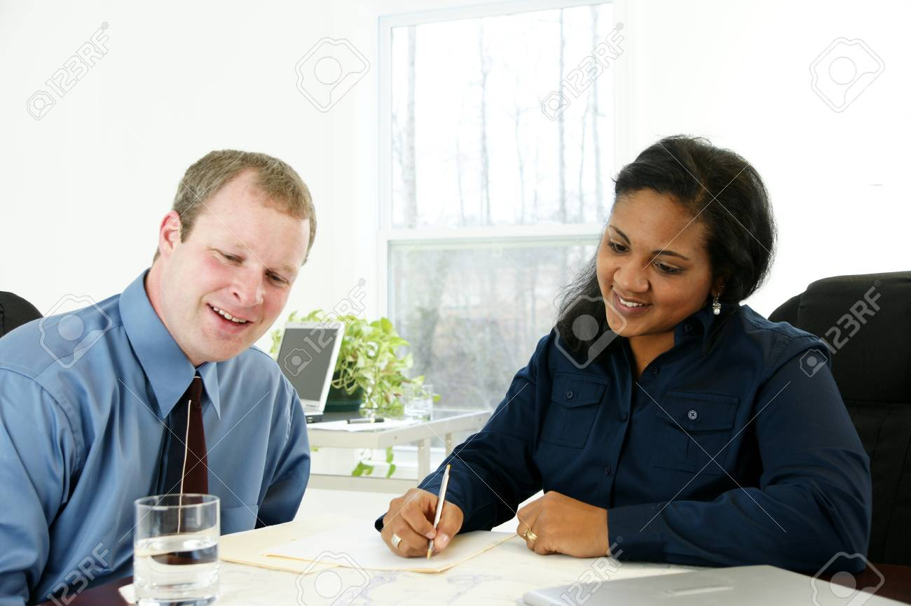 Businesswoman in her office Stock Photo - 13299877