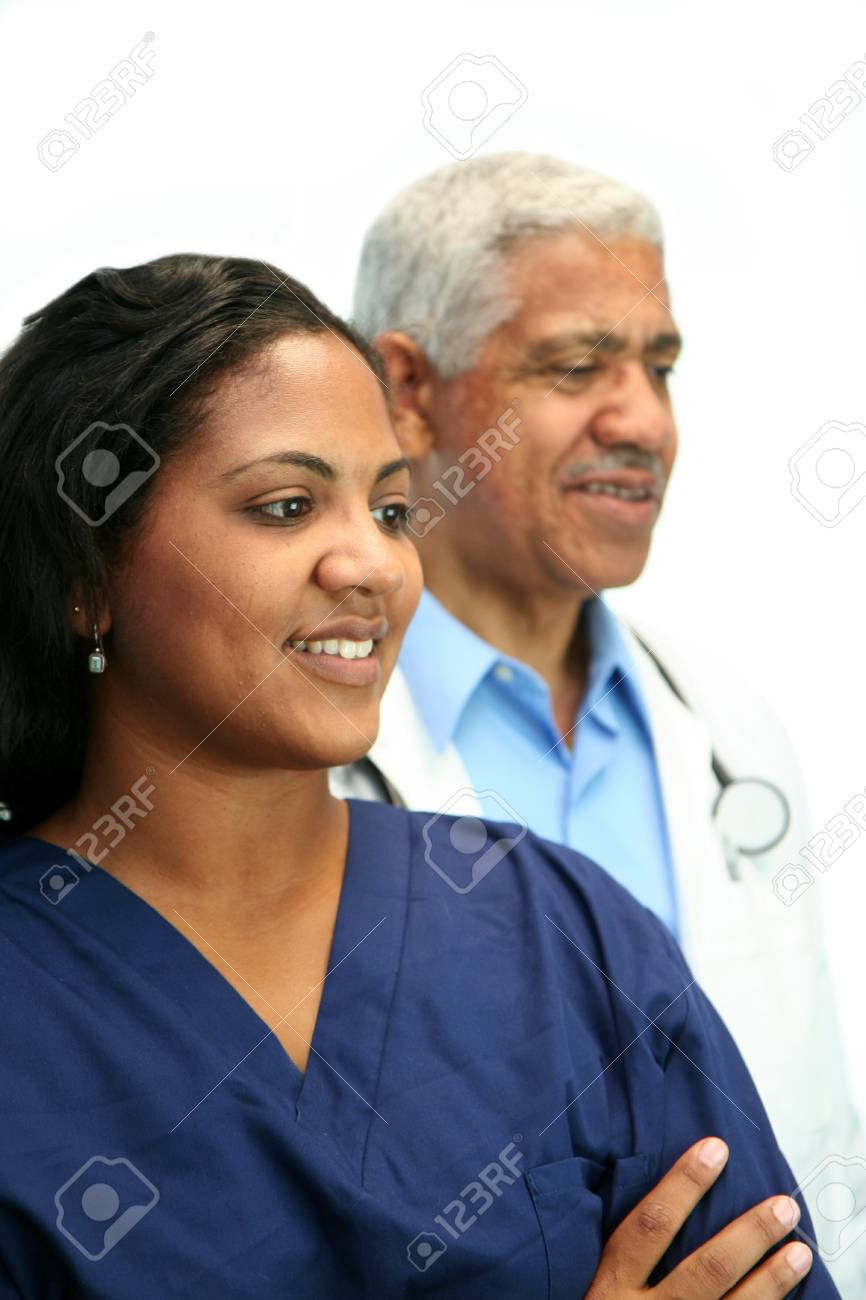 Minority doctor set on white background Stock Photo - 13302095
