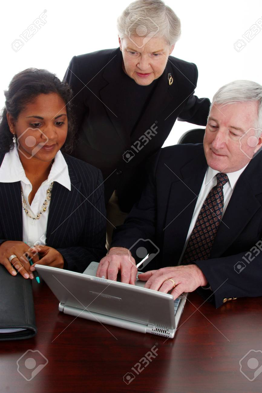 Business team working together in their office Stock Photo - 13296364