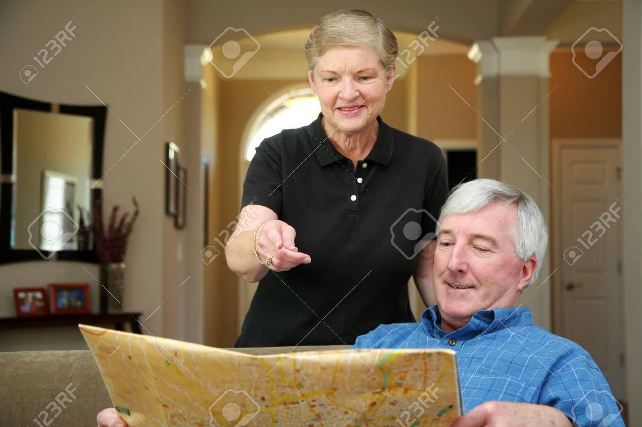 Senior couple making plans during their retirement Stock Photo - 13409187