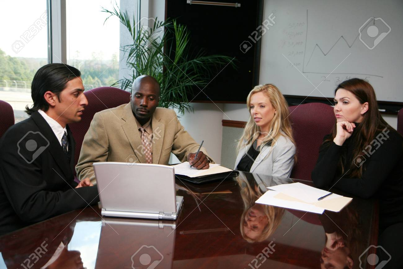 Business team working on a project at the office Stock Photo - 13409740