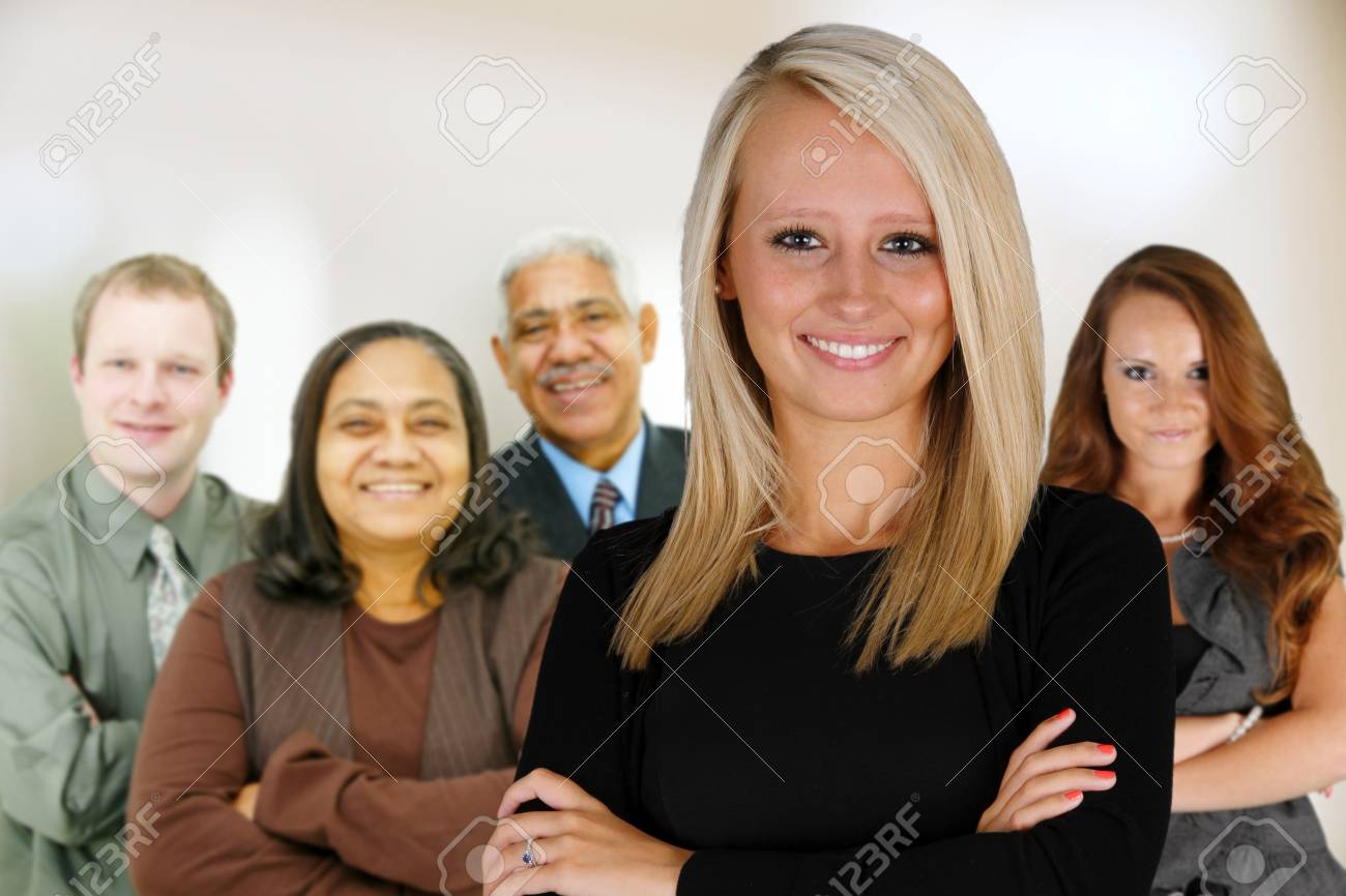Business Team of Mixed Races at Office Stock Photo - 14230602