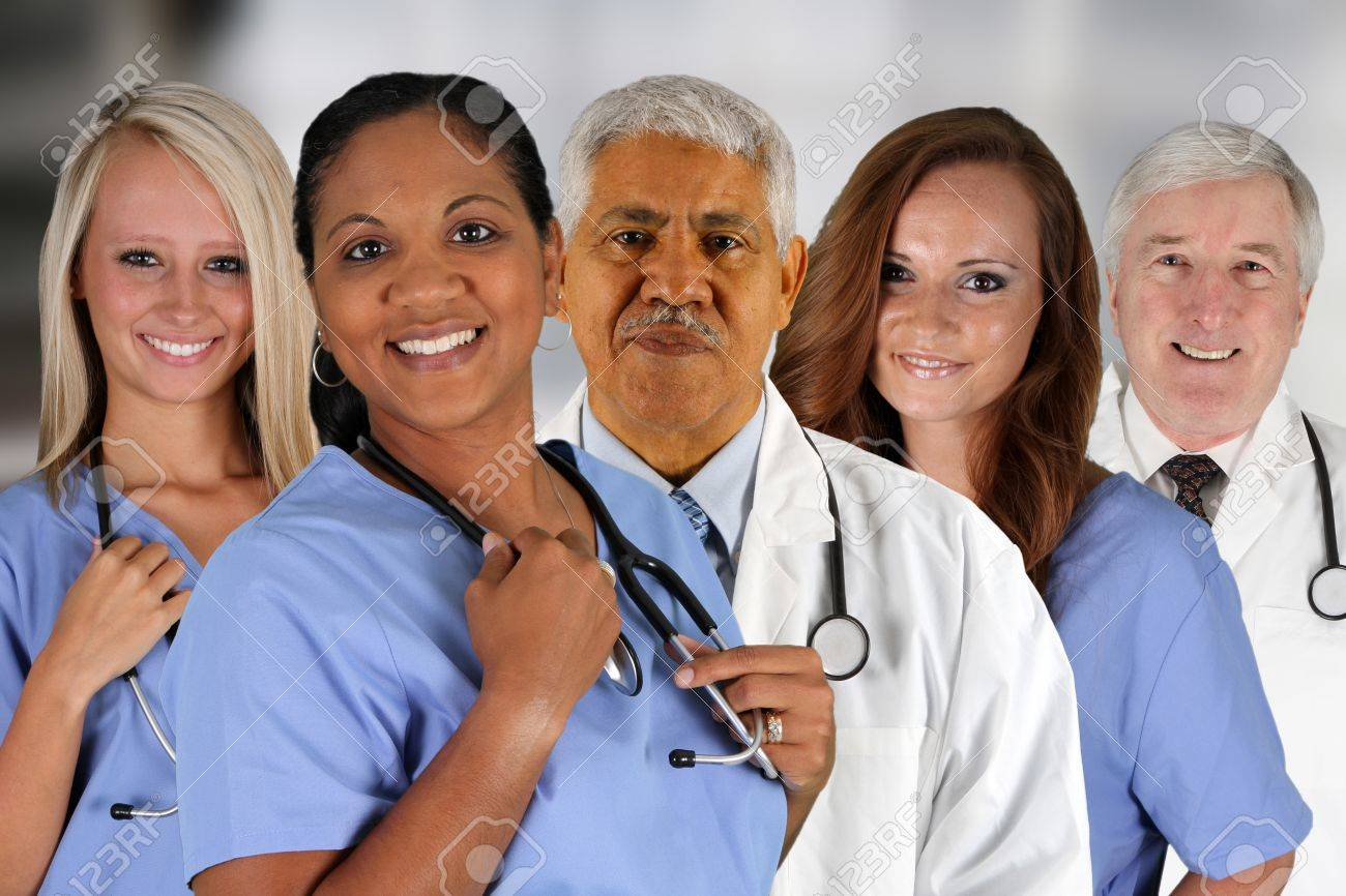 Group of doctors and nurses set in a hospital Stock Photo - 14552186