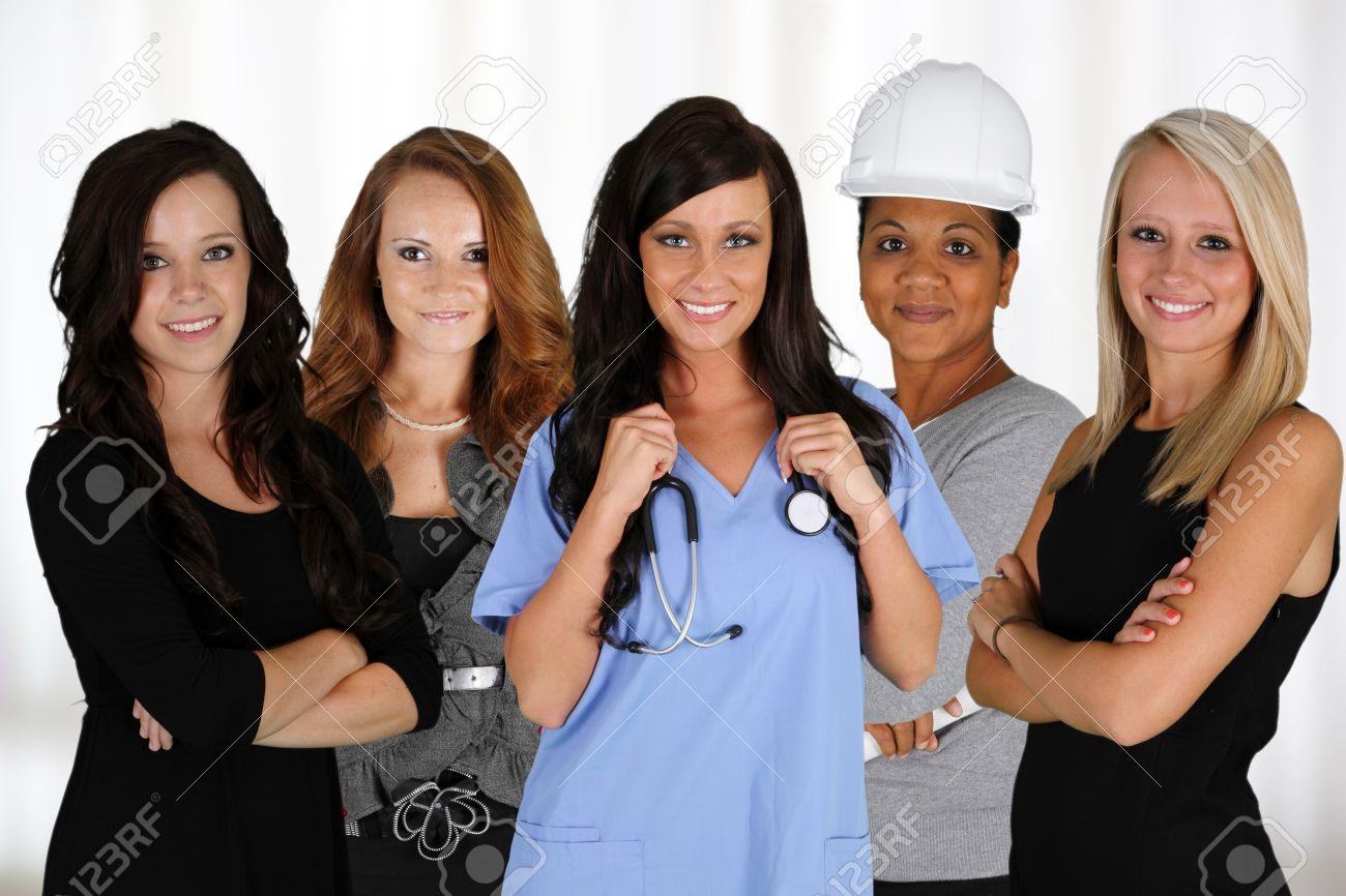 Personas de todas las razas y profesiones Foto de archivo - 14900748