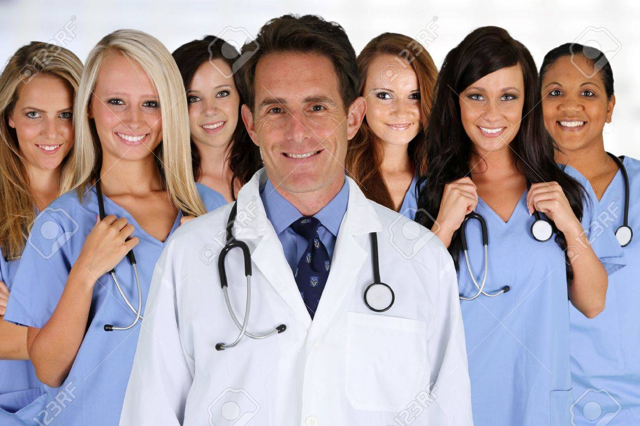 Group of doctors and nurses set in a hospital Stock Photo - 15738692