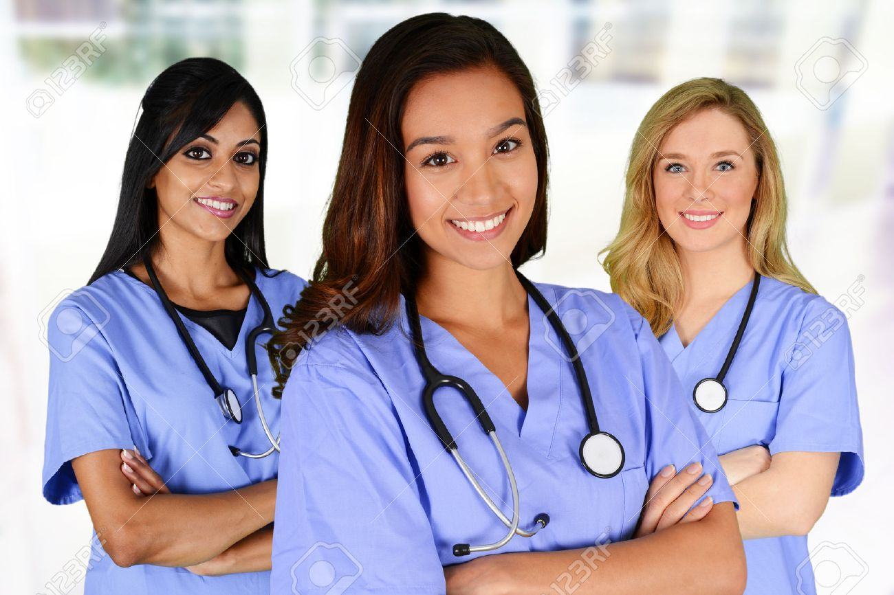 Group of nurses set in a hospital Stock Photo - 40567201