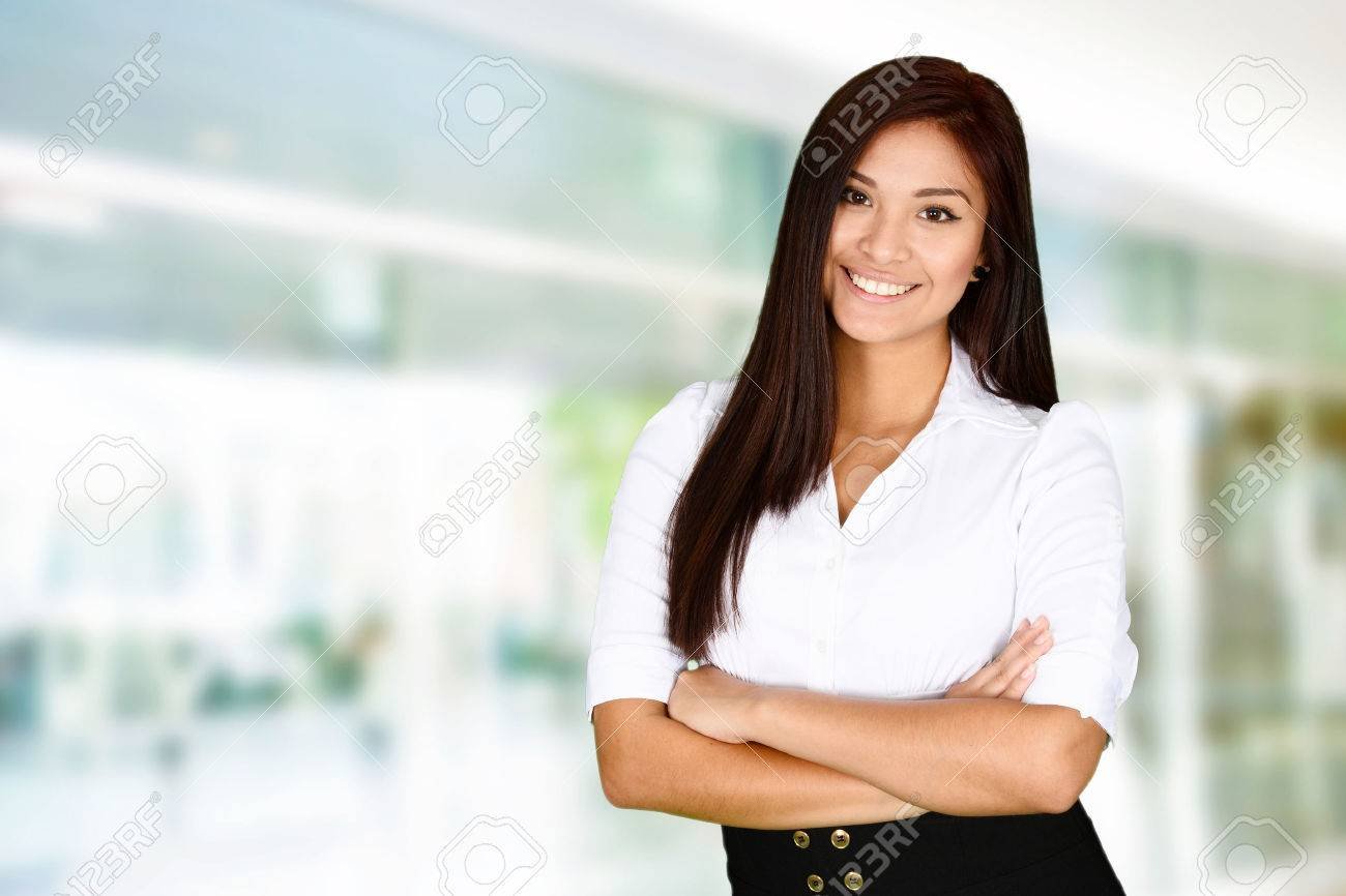 Business woman at the office ready to work Stock Photo - 41605677