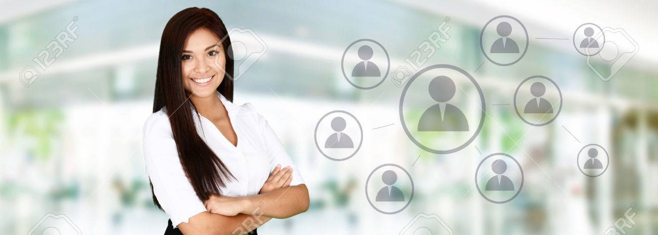 Business woman at the office ready to work Stock Photo - 41605662