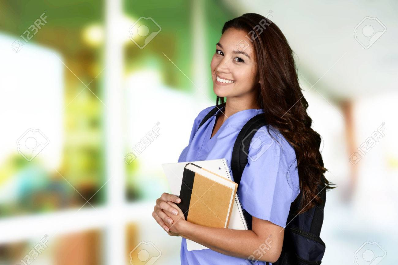 Female nurse who is studying for her job Stock Photo - 42029868
