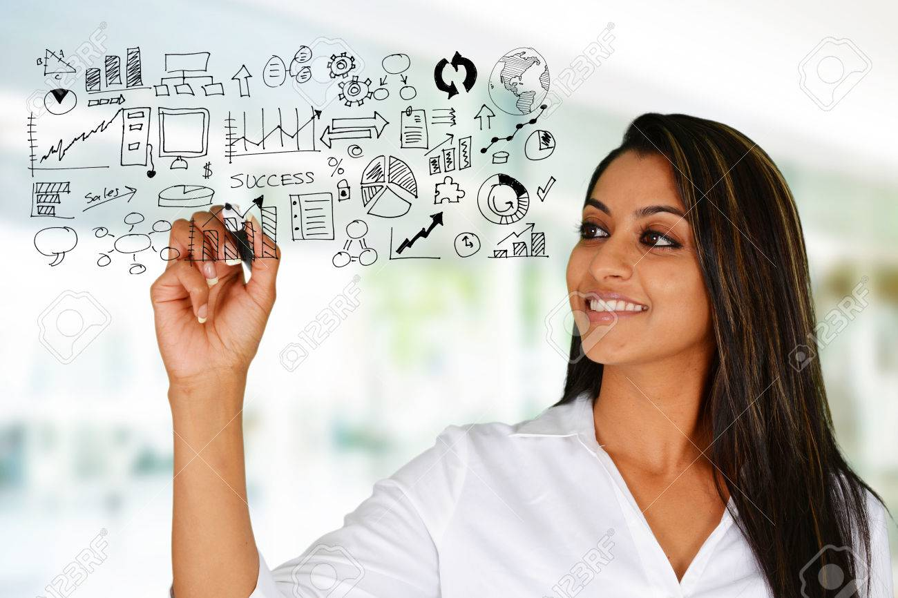 Business woman at the office ready to work Stock Photo - 42451179