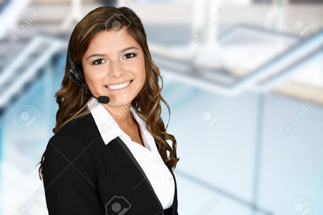 Young woman giving help as a customer service employee - 44840534